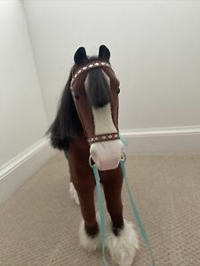 american girl doll  draft horse and saddle