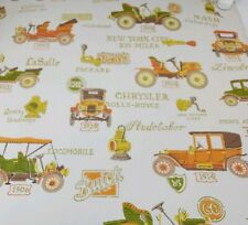 Vintage Waldec Wallpaper Roll Old Cars Automobiles Pre pasted 4 ft