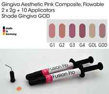 Encía Goma sombra estética Rosa fluido compuestos dentales 2 X 2g, Vita Dios