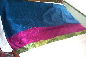 Large silk scarf/ wrap , Maroon, Green and Indigo shades