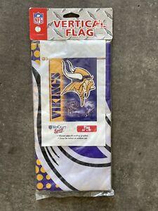"""NEW!  NFL Minnesota Vikings 27"""" X 37"""" Vertical House Banner Team Flag"""