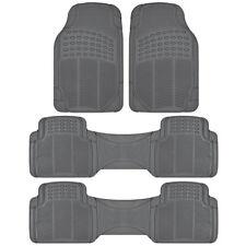 Van Floor Mats for Kia Sedona 3 Row Rubber Full Set Gray Semi Custom Fit