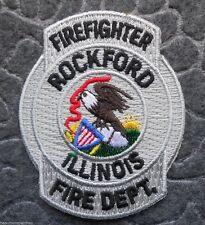 "Rockford Illinois Fire Dept. Firefighter Patch - 2 3/8"" x 3"""