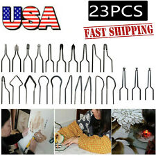 23pc*1mm Pyrography Machine Wire Nib Tips for 30-50W Adjustable Wood Burning #Us