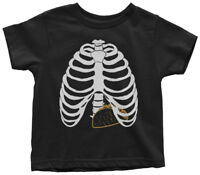 Taco Skeleton Rib Cage Halloween Costume Toddler T-Shirt