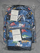NEW Pottery Barn Kids LARGE Dinosaur Backpack + RETRO LUNCH BAG ! LAST ONE!
