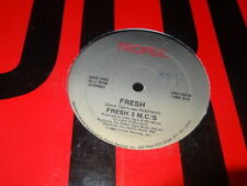 "FRESH 3 M.C.'S FRESH 12"" Single Profile Old School Rap (Record Vinyl)"