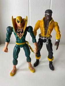 Marvel Legends Toy Biz POWER MAN & IRON FIST Lot Both Mint Avengers Luke Cage