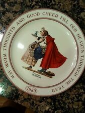 NORMAN ROCKWELL HALLMARK PLATE FRIENDSHIP  1980 LIMITED EDITION
