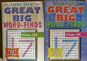 2 Big WORD FIND Puzzle Books Kappa Vol 144 & 145 LARGE PRINT Word SEARCH New!