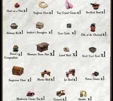 Dwarven Forge Caverns Deep Tiny Treasures Trove D&D Dungeon Dressing Pieces NEW