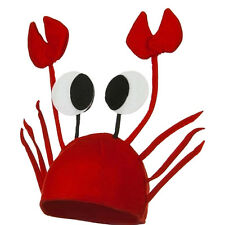 Lovely Red Lobster Crab Sea Animal Hat Costume Accessory Adult Child Cap