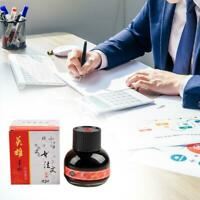 60ml 234 Red Carbon Fountain Pen Ink Writing Ink Refill Glass Bottle Stationary