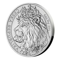 **Pre-Sale** 2021 Niue Czech Lion 1oz Silver Bullion Coin in HQ Quadrum case