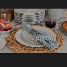 Bruntmor 11 In Pro-Grade Curved Ceramic Restaurant Dinner Plates Set of 8 White