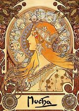 Alphonse Mucha Reproduction Small (up to 12in.) Art Prints