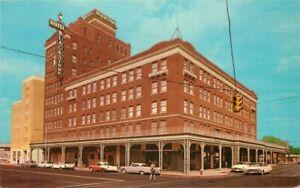 Automobiles Blackstone Hotel Tyler Texas 1960s Postcard Teich 20-10542