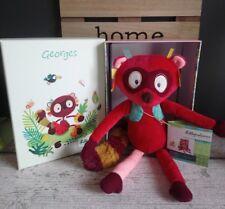 Peluche doudou Georges le lémurien raton laveur Lilliputiens neuf + cadeau
