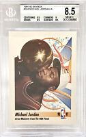 1991-92 Skybox Michael Jordan #334 BGS 8.5 NM-MT w/ 9.5 sub HOF Chicago Bulls
