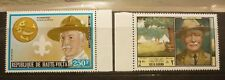 OLD BOY SCOUT GIRL GUIDE STAMP COLLECTION, HAUTE VOLTA BADEN POWELL MINT PAIR