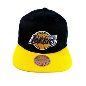 NBA Los Angeles Lakers Snapback Cap Hat Mitchell & Ness Black / Yellow
