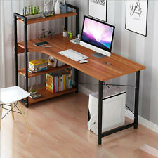 Computer Laptop Desk Modern Style Computer Table Office Table with 4 Tiers Books