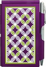 #2213 Wellspring Flip Note w/Pen-Audrey Collection-Circle Pattern Purple Notepad
