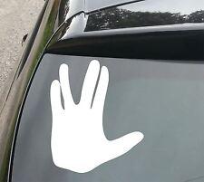 LARGE Star Trek Vulcan Salute Funny Car/Window JDM VW EURO Vinyl Decal Sticker