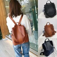 Fashion Women's Ladies Outdoor Simple Zipper Contrast Color Backpack Travel Bag