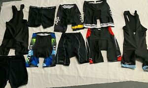 Lot Of 9 Santini and Castellated Cycling Bib Shorts SizeL/ XL