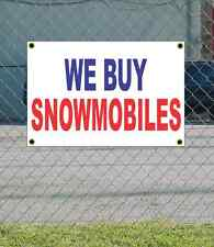 2x3 WE BUY SNOWMOBILES Red White & Blue Banner Sign NEW Discount Size & Price