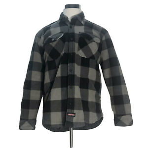 Dickies Men's Size XL 46-45 Sherpa Lined Flannel Shirt Jacket Polyester Checks