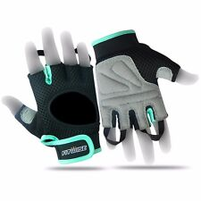 Ladies Gym Fitness Body Building Training Womens Workout Exercise Gloves Cycling M Cyan