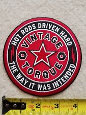 Vintage Torque hot rod patch 4 inches kustom kulture lowbrow