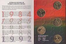 1984-1992 Australian 5 $1 coin mint set  UNC With the Rare 1992 Barcelona $1