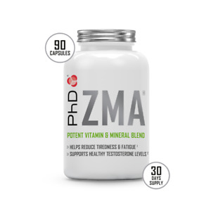 PhD ZMA, recovery support 90 capsules (30 day supply)