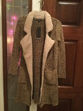 NWT Olyss Long Sweater Coat Jacket Brown Tan Tweed Size Small Soft