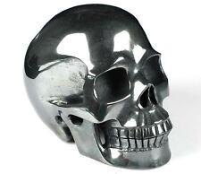 "5.0"" HEMATITE Carved Crystal Skull, Realistic, Crystal Healing"