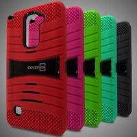 Heavy Duty Hybrid Armor Phone Cover Case for LG Stylus 2/ G Stylo 2/  Stylo 2 V