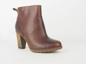 Womens Timberland Earthkeepers Statham Ankle 8614A Brown Leathers Heeled Boots