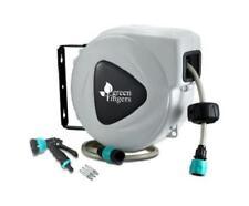 10m Retractable Automatic Rewind Outdoor Garden Water PVC Hose Reel Spray Gun
