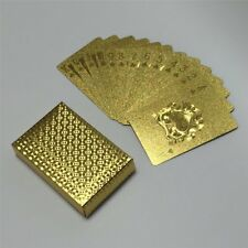 Waterproof Goldenleaf Plated Playing Cards Poker Set Party Table Game KI