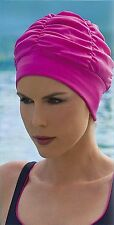 Ladies Swimming Hat Bathing Cap by Fashy Turban Style Pink