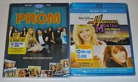 Disney Blu-ray DVD Lot - Hannah Montana The Movie (New) Prom (New)