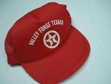 VINTAGE TEXACO GASOLINE GAS VALLEY FORGE, PENNSYLVANIA RED ADJUSTABLE HAT OSFA
