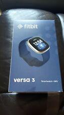 Fitbit Versa 3 Smartwatch +GPS Midnight Blue & Soft Gold Aluminium