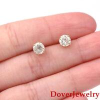 EGL Certified 1.30ct Diamond 14K Yellow Gold Stud Earrings NR $4.445.00