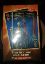 HUMAN SKELETON PLAYING CARDS (ENGLISH, SPANISH AND FRENCH) 3rd Edition [NEW]