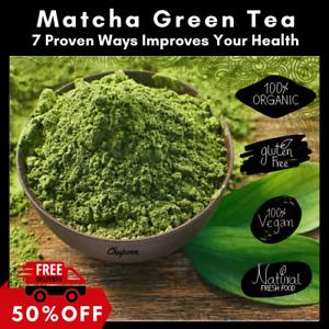 Premium Matcha Green Tea Powder - Japanese Organic Detox Latte - Up to 400 Sever