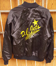 Vintage D.C. Jets Satin Jacket-Black/Yellow-XL-Auburn-Airplane-Bike Club?-Star